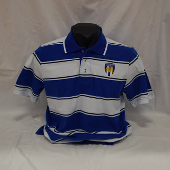 Thomas Polo Royal/White        Striped Polo Shirt