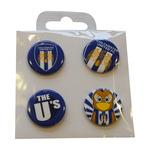 4 Button Badges